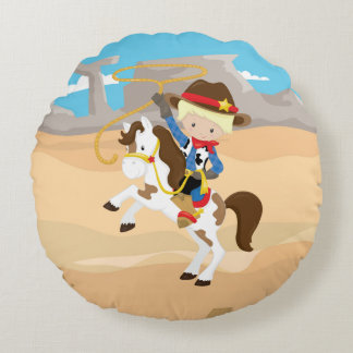 Cowboy Round Pillow