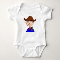 cowboy Mask-layer Baby Bodysuit