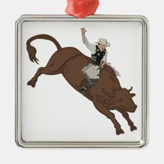 Cowboy Metal Ornament