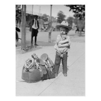 Cowboy minúsculo, 1923 postales