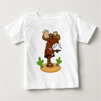 Cowboy Moose Baby Tee