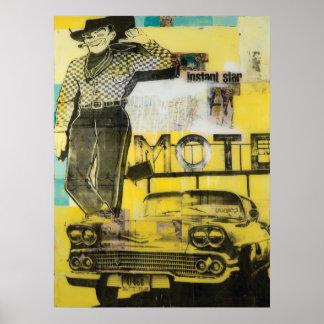 Cowboy Motel Print