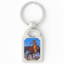 Cowboy Mounted Keychain