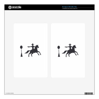 COWBOY MOUNTED SHOOTING SKINS FOR KINDLE FIRE