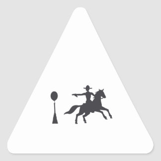 COWBOY MOUNTED SHOOTING TRIANGLE STICKER