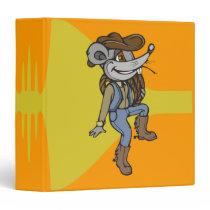 Cowboy Mouse 3 Ring Binder