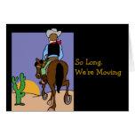 Cowboy Moving Notice Greeting Card