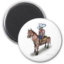 Cowboy n Horse Magnet
