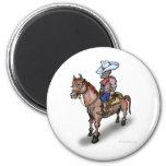 Cowboy n Horse Refrigerator Magnet