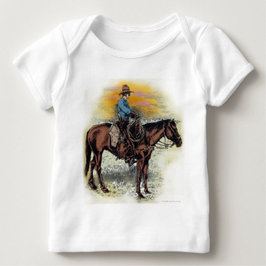 Cowboy n Sunset Baby T-Shirt