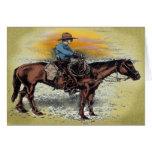 Cowboy n Sunset Greeting Card