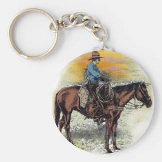 Cowboy n Sunset Keychain