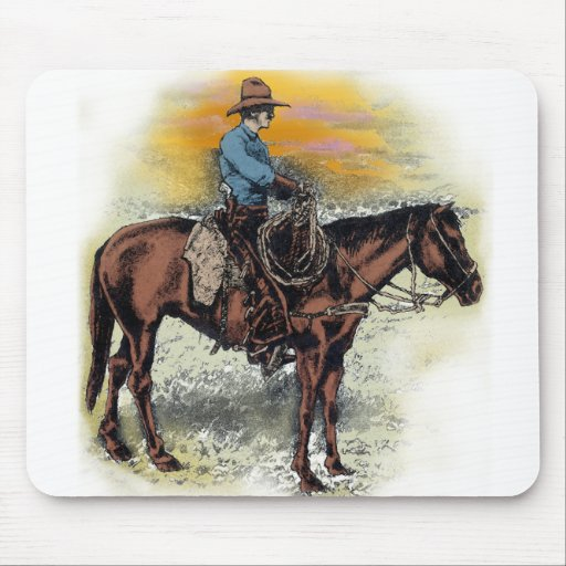 Cowboy n Sunset Mouse Pad