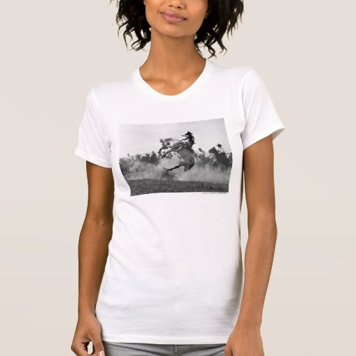 Cowboy on a bucking bronco t-shirt