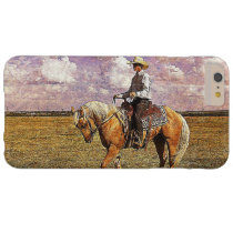 Cowboy on a palomino barely there iPhone 6 plus case