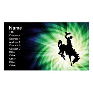 Cowboy on Bronco / Bronc; Cool Business Card