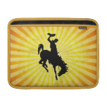 Cowboy on Bucking Bronc; yellow Sleeve For MacBook Air