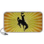 Cowboy on Bucking Bronc; yellow iPod Speaker