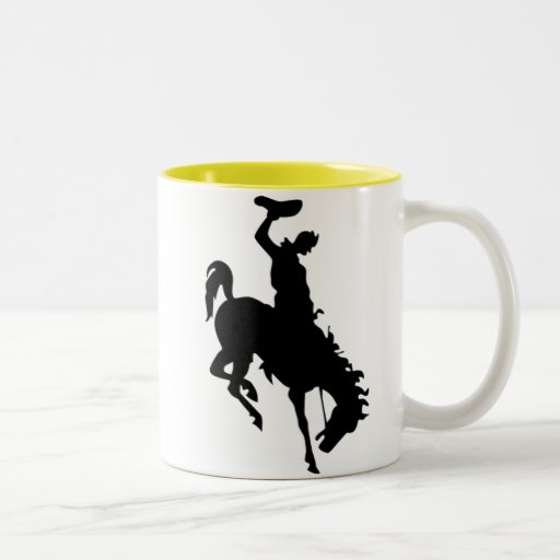 Cowboy on Bucking Bronc; yellow Mug