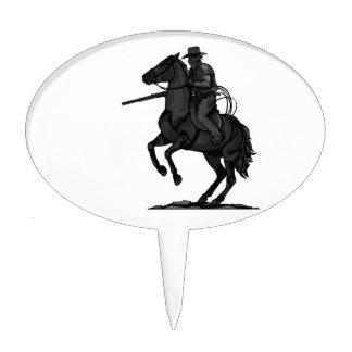 Cowboy on his horse cake picks