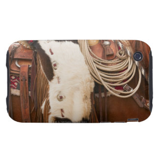 Cowboy on horse 2 tough iPhone 3 covers