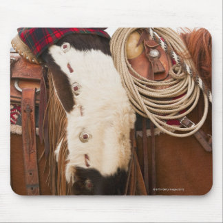 Cowboy on horse 2 mouse pad