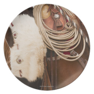 Cowboy on horse 2 party plate
