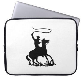 Cowboy on Horse Laptop Sleeve