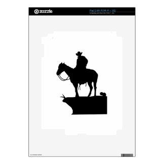 COWBOY ON HORSE iPad 2 SKIN