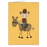 Cowboy on Horse Tshirts and Gifts Greeting Card