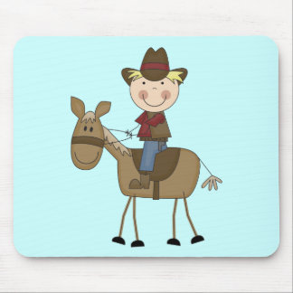 Cowboy on Horse Tshirts and Gifts Mouse Pad
