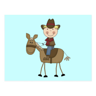 Cowboy on Horse Tshirts and Gifts Postcard