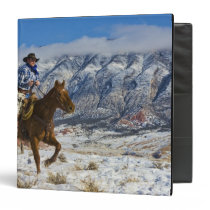 Cowboy on Horse wearing Leather Chaps 2 Binder