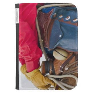 Cowboy on Horse wearing Leather Chaps Cases For The Kindle