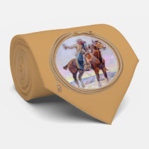Cowboy On Horse Western Neck Tie