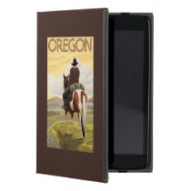 Cowboy on Horseback Vintage Travel Poster Case For iPad Mini