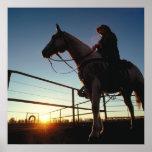 Cowboy On The Ranch Print