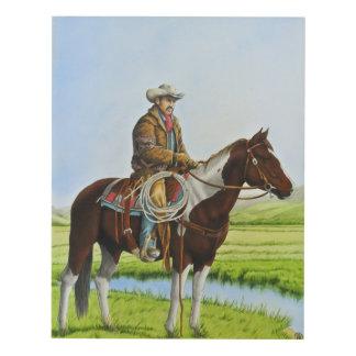 Cowboy on the Range Panel Wall Art