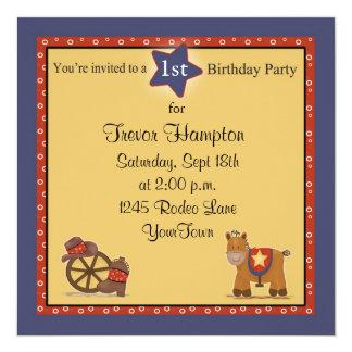 Cowboy or Cowgirl Birthday Party Custom Invites