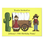 Cowboy or Cowgirl Child Party - Kids Western 5x7 Paper Invitation Card