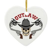 Cowboy Outlaw Ceramic Ornament