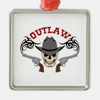 Cowboy Outlaw Metal Ornament