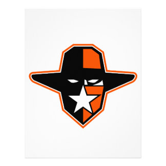 Cowboy Outlaw Star Icon Letterhead