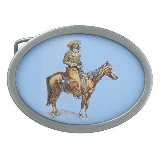Cowboy Oval Belt Buckle