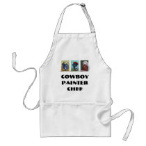 Cowboy Painter Chef apron