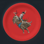 "Cowboy Paper Plate<br><div class=""desc"">Throw a theme party with a vintage cowboy paper plates.</div>"