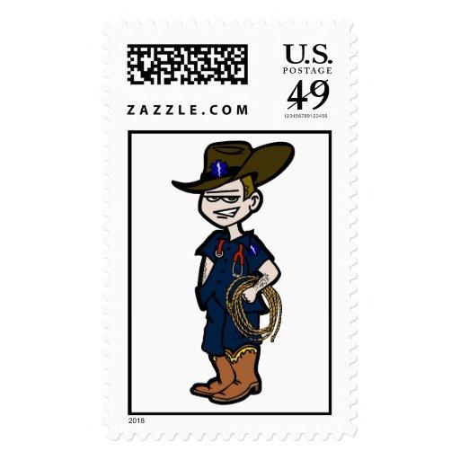 Cowboy Paramedic Postage Stamps