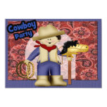 "Cowboy Party 5"" X 7"" Invitation Card"