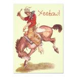 Cowboy Party Card
