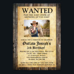 "Cowboy Party Invitation | WANTED INVITATION<br><div class=""desc"">Cowboy Party Invitation 